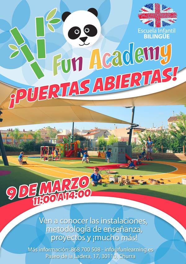 Día de puertas abiertas guardería Murcia Fun Academy
