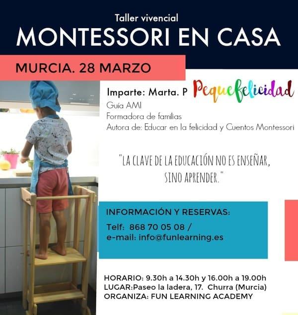 Taller vivencial Montessori en casa