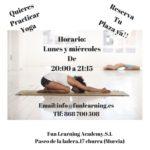 Yoga en escuela infantil bilingüe Fun Academy Murcia